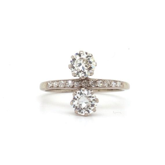 Edwardian Double Diamond Ring