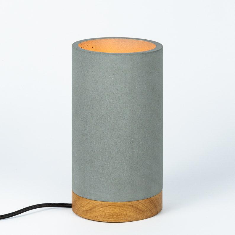 Concrete table lamp gravel dwarf by GIESSWERK image 1
