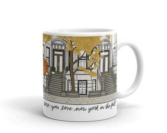 You've Got Mail mug, kathleen kelly and joe fox, nora ephron movie, youve got mail quote gift, fall mug, new york, fall
