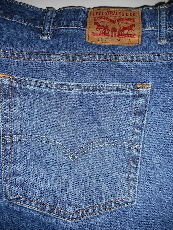 Perfect 560 Levi Jeans 54 X 30 Comfort, Loose, Tap