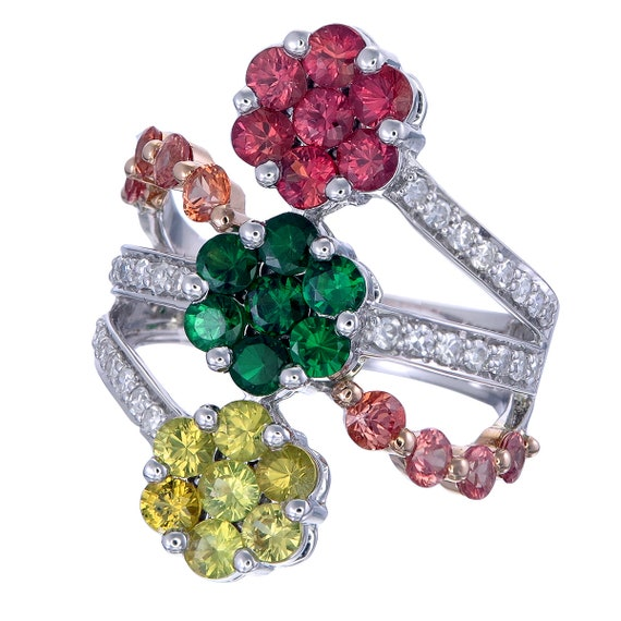 Classic Floral Ring - image 1