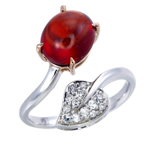Ring with Spessartite Garnet