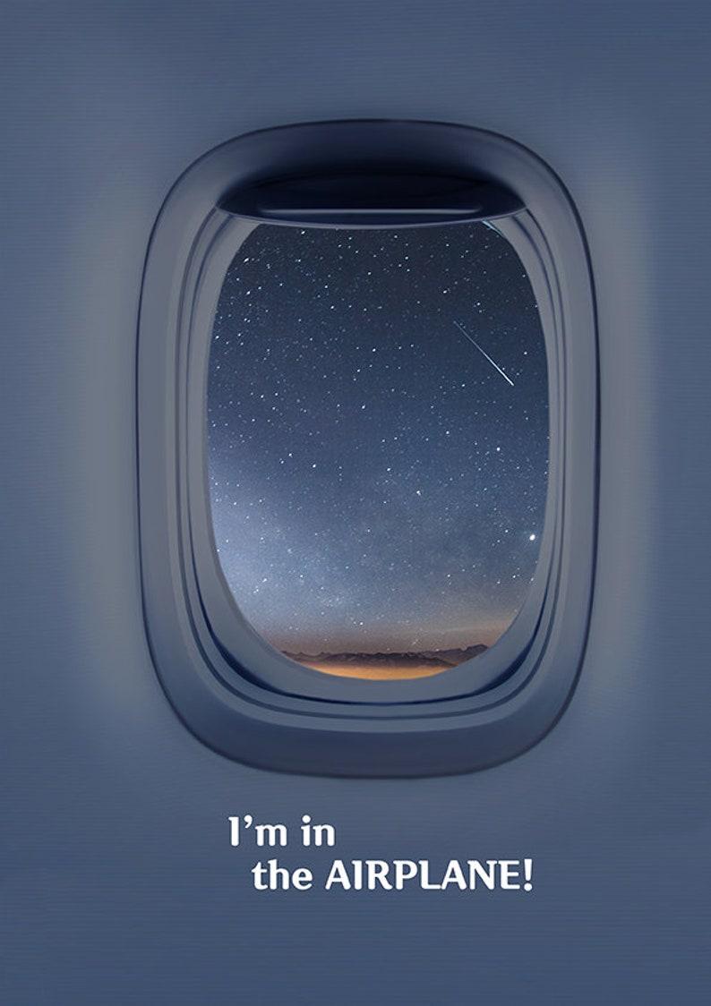 Airplane Window Poster4Printable wallartstarry night image 0