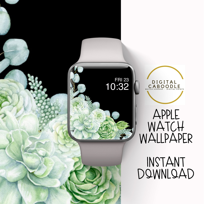 Apple Watch Wallpaper Apple Watch Background Green Cactus Etsy