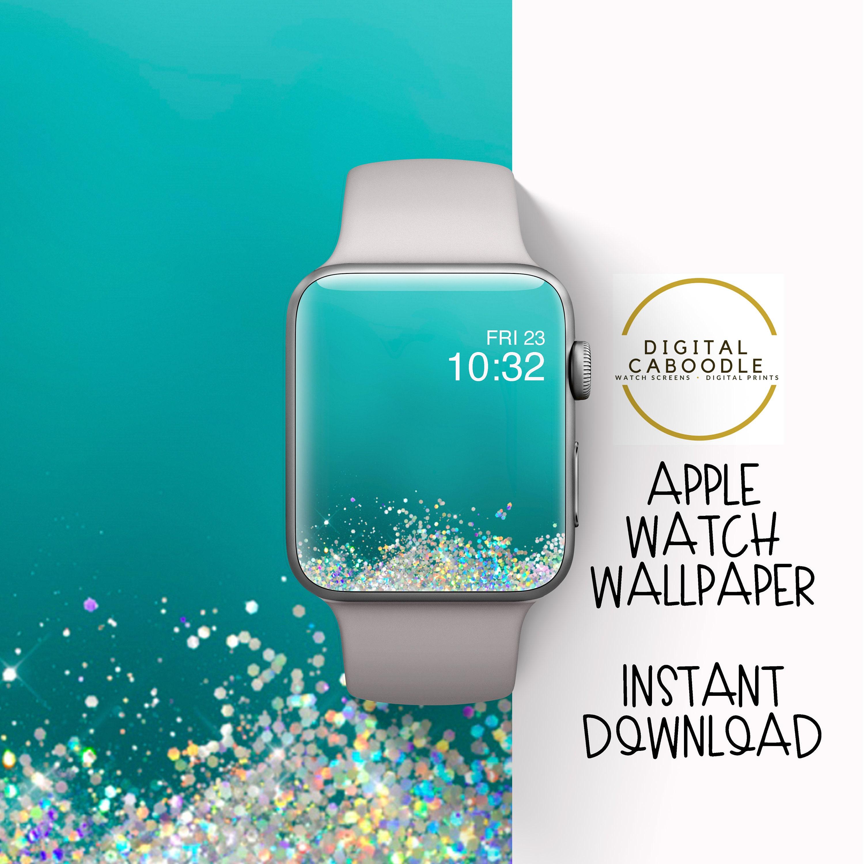 Apple Watch Wallpaper grüne Glitter ...
