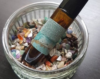 SPELL OILS ... A blend of Pure Essential Oils, Herbs & Crystals for Love, Wealth, Healing, Energy, Attraction, Inner Peace ... Witch, Wicca
