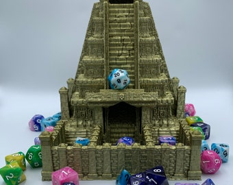 Aztec Mayan Pyramid Dice Tower by Fates End (D&D, Dungeons and Dragons, Tabletop gaming, Dice rolling tower, 3D Printed)