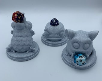 Guardian Dice Keepers (D&D, Dungeons and Dragons, Tabletop gaming, Dice rolling tower, 3D Printed)