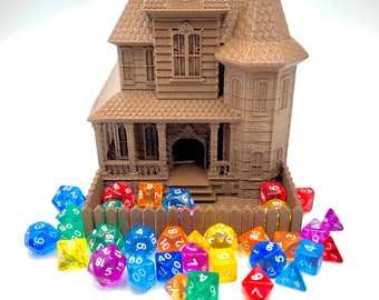 Haunted House Dice Tower by Fates End (D&D, Dungeons and Dragons, Tabletop gaming, Dice rolling tower, 3D Printed)