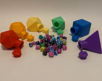 Polyhedral Dice Shape Boxes (D&D, Dungeons and Dragons, Pathfinder, Tabletop Gaming, Dice, 3D Printed)