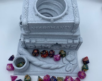 Spell Book Dice Tower by Ars Moriendi (D&D, Dungeons and Dragons, Tabletop Gaming, Pathfinder, 3D Printed, 40K TTRPG)