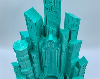 Cyber City Dice Tower by Fates End (D&D, Dungeons and Dragons, Tabletop gaming, Dice rolling tower, 3D Printed)