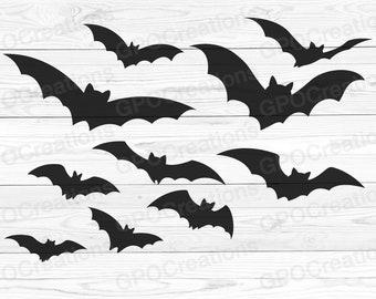 12 Bat Images - Vintage Halloween! - The Graphics Fairy