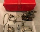 Singer Sewing Machine Accessories Box and attachments for 221 221K and 222K Featherweight