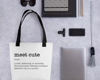 Meet Cute Romance Love Tote bag