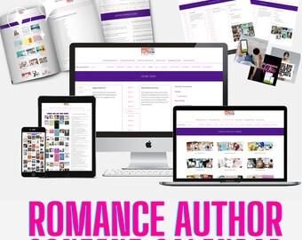 Romance Author Content Calendar