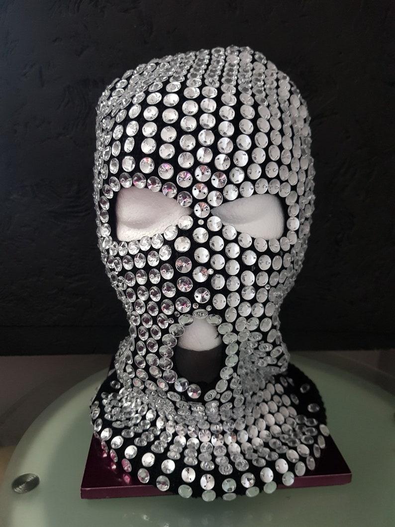 Crystal ski mask.burning man