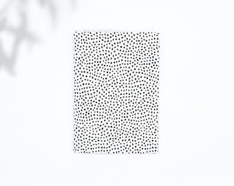 Saddle Stitch Notebook - Black Owned Notebook - Travelers Notebook Insert - Pocket Notebook - Self Care Journal - Black Dotted Notebook