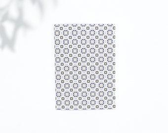 Saddle Stitch Notebook - Black Owned Notebook - Travelers Notebook Insert - Pocket Notebook - Self Care Journal - Blue Notebook