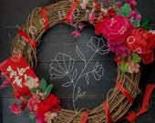 Lunar Chinese New Year Door Wreath