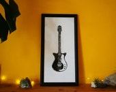 Electric guitar print Danelectro 12 string