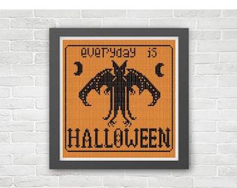 Every Day is Halloween Cross Stitch Pattern PDF