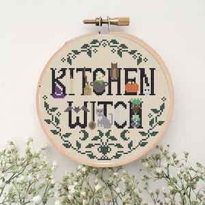 Winter witch Magic scenery ❄️ Cross Stitch Pattern ❄️