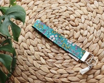Key-door Floral Turquoise With Breloque