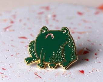 Grumpy Frog Pin Badge