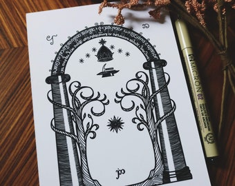 Signed LOTR - DOORS of DURIN print