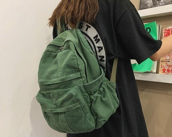 Casual Backpack Women Travel Bag 2021 Fashion High Capacity Solid Color Women's Backpack Student Zipper School Bag