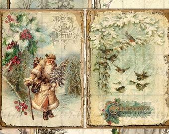 VBM2144 Digital Christmas Paper Download DIGITAL Vintage Christmas Ephemera Printable Christmas Junk Journal