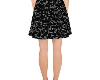 Math Nerd Skater Skirt in Black & White