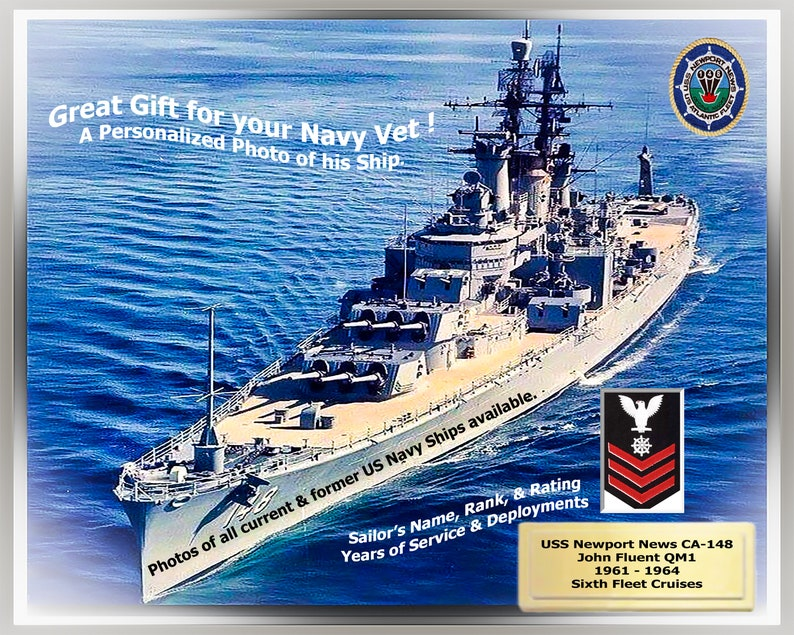 Navy Veterans Custom Personalized Photo of your Ship. Great image 0