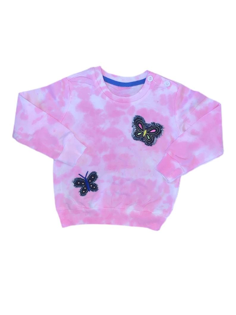 Toddler  Girl\u2019s \u2018Butterfly\u2019 Tie Dye Sweatshirt