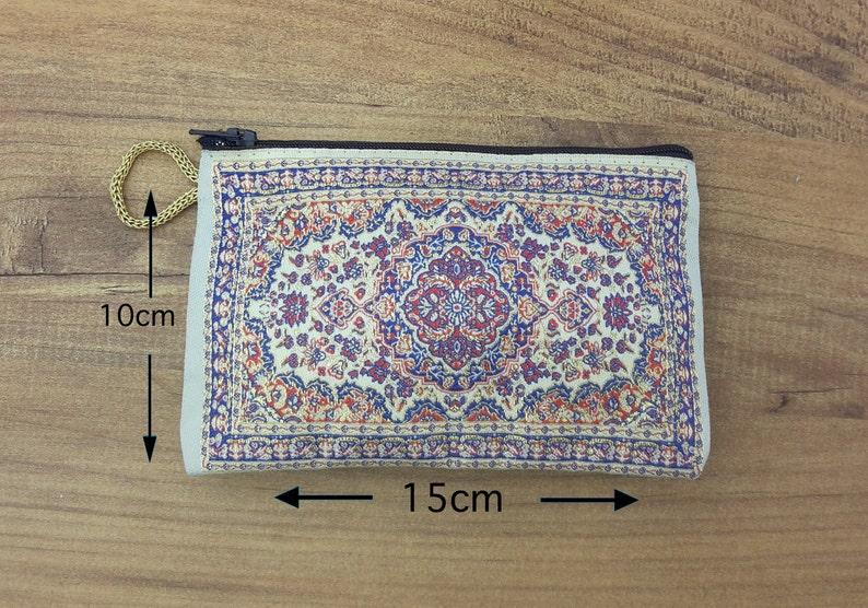 Turkish Handmade Coins Purse Woven Carpet Design Turkish Purse