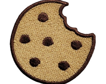 Bitten Cookie Patch Cookie Iron On Patch Chocolate Chip Cookie