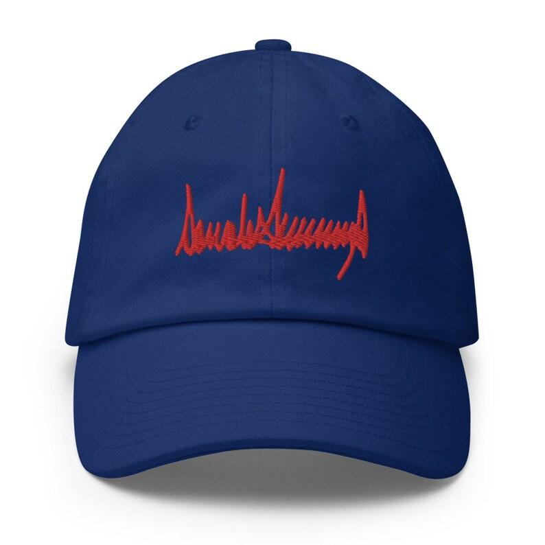 Donald Trump Signature Made in USA Cotton Cap Silent Majority MAGA Keep America Great Trump Dad Hat KAG Patriot Party Republican Hat