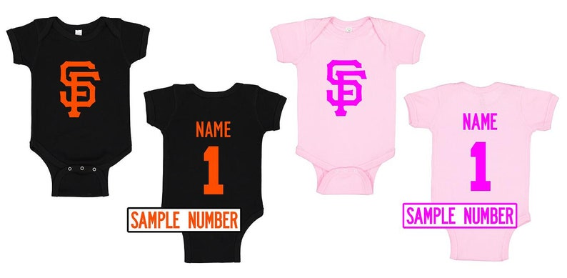 San Francisco Giants Bibs and Bodysuits Long and Short Sleeve