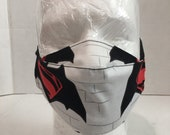 Batman Superman mask Batman Superman Face cover Batman Superman face shield