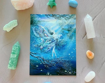 Inspirational Card ~ New ~ Where Moonbeams Fall by Josephine Wall