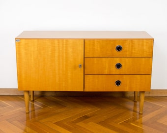 Mid-century Console Table | 70's Polished Furniture | Vintage Yugoslavian Cabinet | Retro Modern Sideboard  | Chest of  Drawers | TV Stand