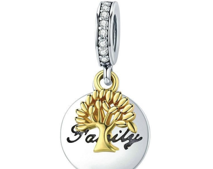 Family Tree of Life Charm | Fits Pandora & Charm Bracelets | Authentic Sterling Silver Jewellery Jewelry