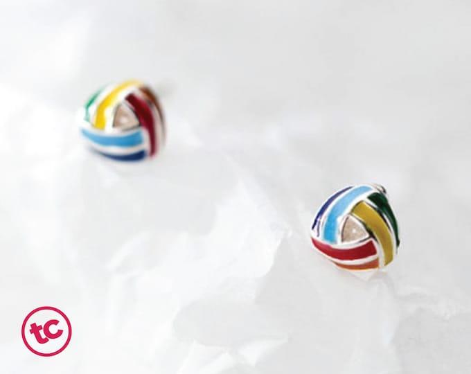 Rainbow Pride Twisted Knot Stud Earrings, Authentic Sterling Silver, Minimalist Stud, Minimilist Jewellery, Totally Charming, LGBTQ+