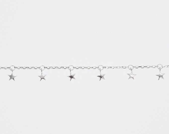 Simple Star Sterling Silver Bracelet Dainty Constellation Celestial Astronomy Jewellery Jewelry Bangle Wristlet Mothers Day Gift for Her