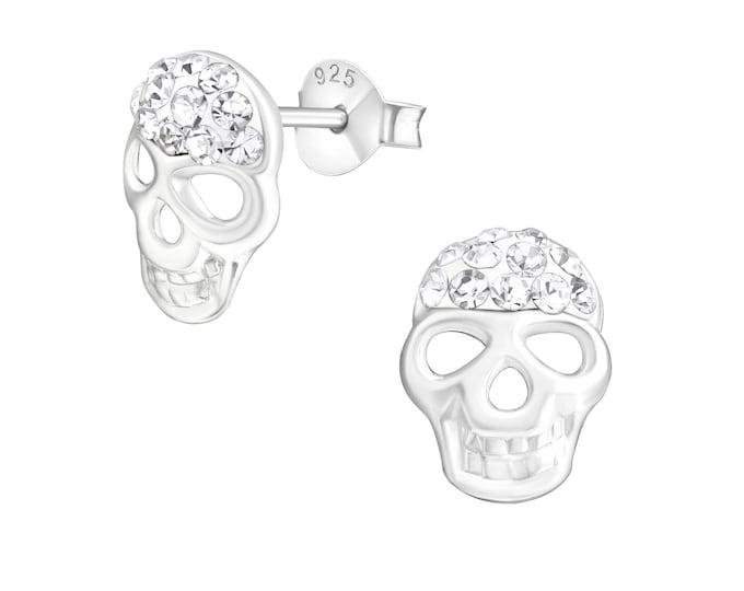 Halloween Earrings - Crystal Skull