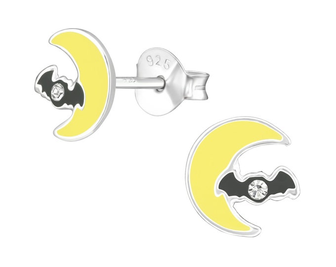 Halloween Earrings - Moon & Bat
