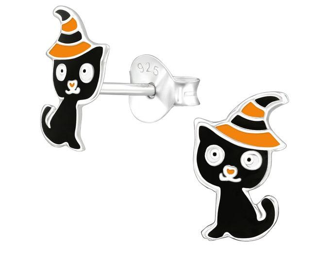 Halloween Earrings - Black Cat