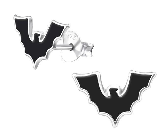 Halloween Earrings - Flying Bat