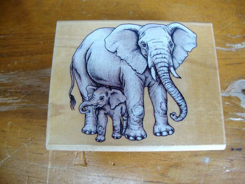 Elephants Rubber Stamp by Rubber Stampede 3
